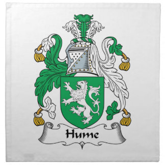 Hume Family Crest Napkin