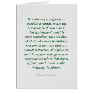 Hume miracles and evidence quote card