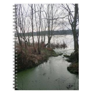 Humedales alrededor del musgo de Blakemere Libros De Apuntes
