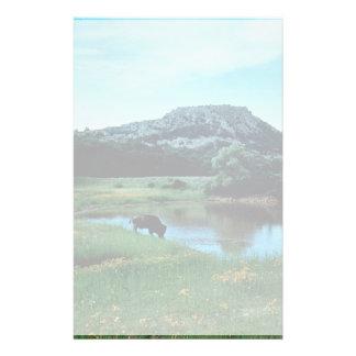 Humedales con el búfalo papeleria de diseño