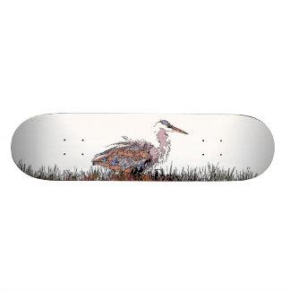 """Humedales de los animales de la fauna del pájaro patineta 7 1/4"""""""