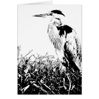 Humedales de los animales de la fauna del pájaro tarjeta de felicitación