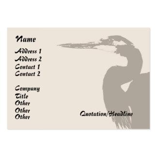 Humedales de los animales de la fauna del pájaro tarjetas de visita grandes