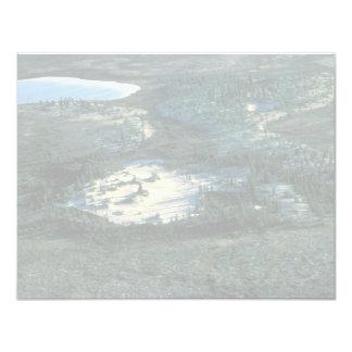 Humedales de Selawik y duna de arena Invitación 10,8 X 13,9 Cm
