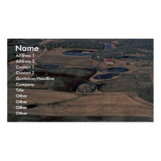 Humedales restaurados tarjetas de visita