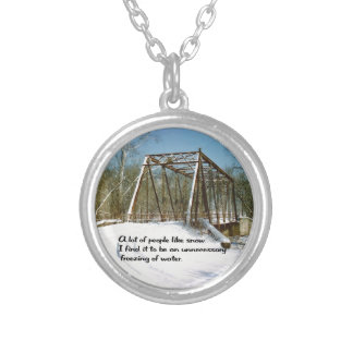 Humerous Silver Plated Necklace