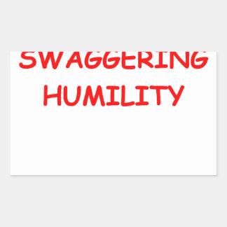 humildad pegatina rectangular