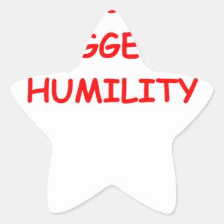 humildad pegatina en forma de estrella