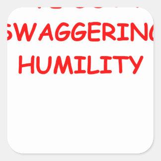 humildad pegatina cuadrada