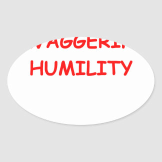 humildad pegatina ovalada