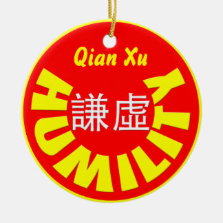 Humility Ceramic Ornament