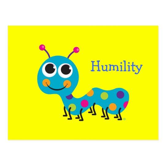 Humility Cute Caterpillar Postcard
