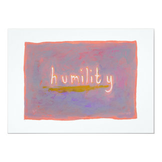 Humility - fresh simple colorful painting art card