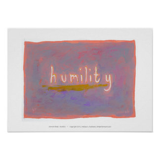 Humility - fresh simple colorful painting art poster