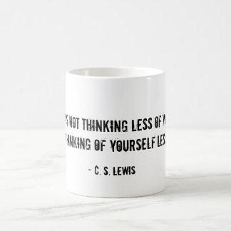 Humility Mug CS Lewis quote