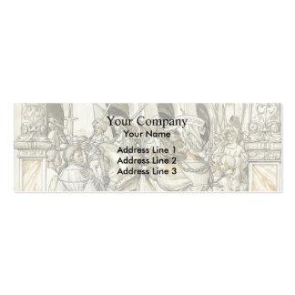 Humillación de Hans Holbein- de la valeriana del e Tarjetas De Visita