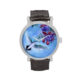Humingbird In Flight Wrist Watch