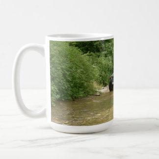Hummer H1 crossing stream Coffee Mug