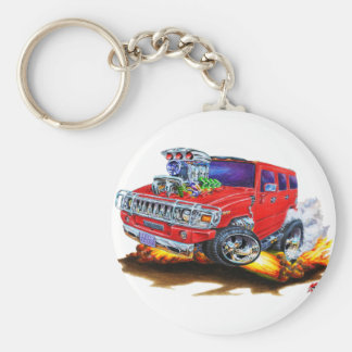 Hummer H2 Red Truck Key Chain