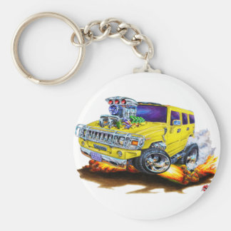 Hummer H2 Yellow Truck Key Chains