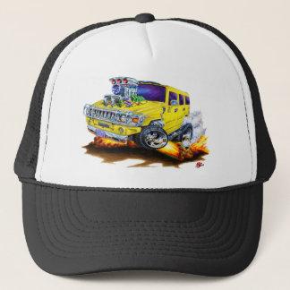Hummer H2 Yellow Truck Trucker Hat
