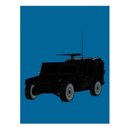 Hummer negro postal