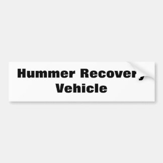 Hummer Recovery Vehicle Bumper Sticker