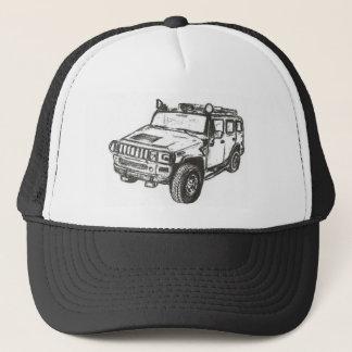 Hummer Truck Art Trucker Hat