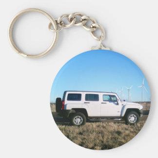 Hummer & Wind Power Basic Round Button Keychain