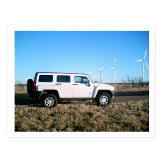 Hummer & Wind Power Postcard