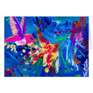 Hummer's Explosion Hummingbird Card