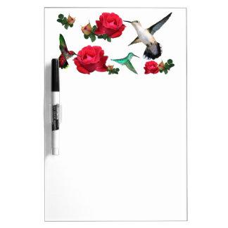 Hummers N Roses Dry-Erase Board