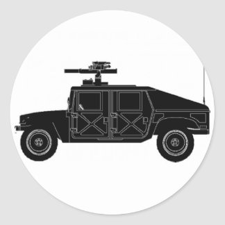 Hummers Classic Round Sticker