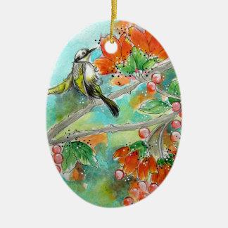 Humming Bird and Orange Blossoms Ornament