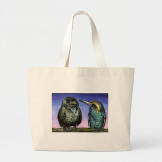 Humming bird and raven bags