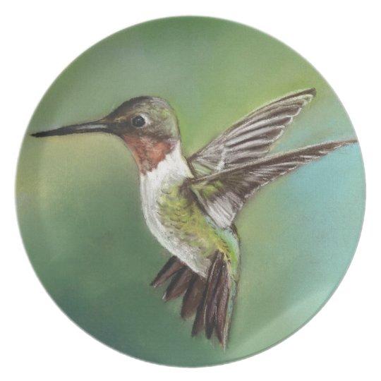 Humming Bird Art Plate