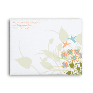 Humming Bird Christian Two Become  One RSVP Envelopes