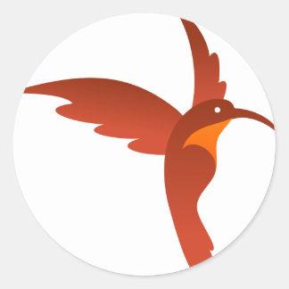 Humming Bird Classic Round Sticker