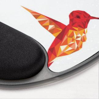 humming bird design pad gel mouse pad