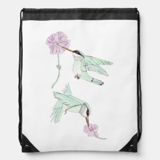 Humming Bird Drawstring Backpack