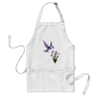 Humming Bird Flower customize Adult Apron