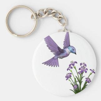 Humming Bird Flower customize Basic Round Button Keychain