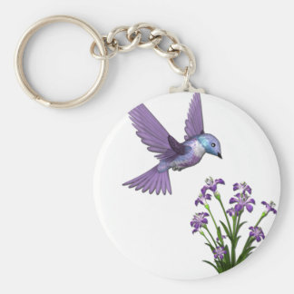 Humming Bird Flower customize Keychain