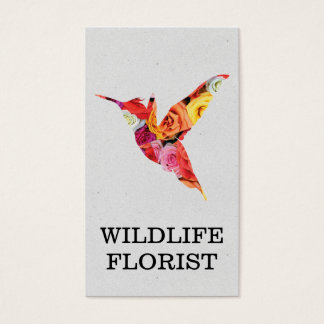 Humming Bird | Flowers Business Card