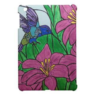Humming bird flowers iPad mini cover