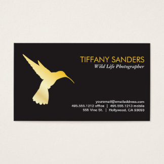 Humming Bird Gold Business Card