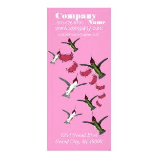 Humming Bird Grunge Hearts Dress Boutique Rack Card