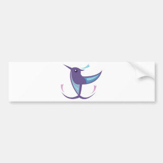 Humming bird Icon Bumper Sticker