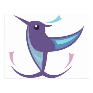 Humming bird Icon Postcard