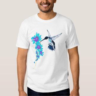 Humming Bird In Blue T-Shirt